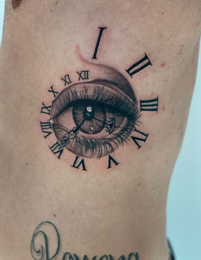 Eye clock in progress
